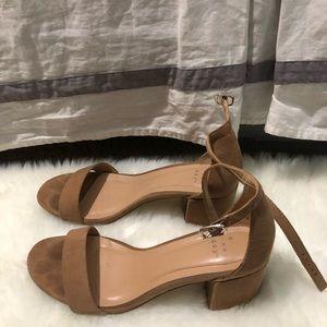 Target tan heeled sandals